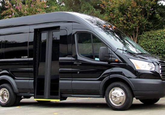 First class shuttle van