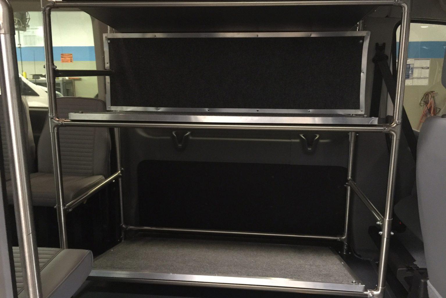 Van with interior storage