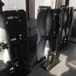 Prisoner Transport van seating folded
