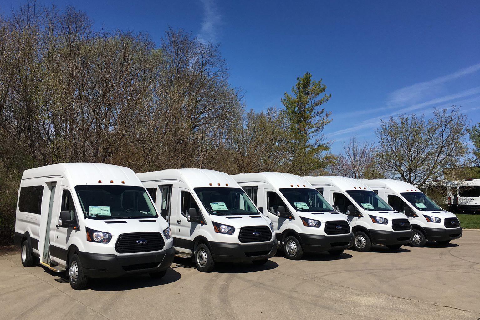 Fleet of Public Transportation vans