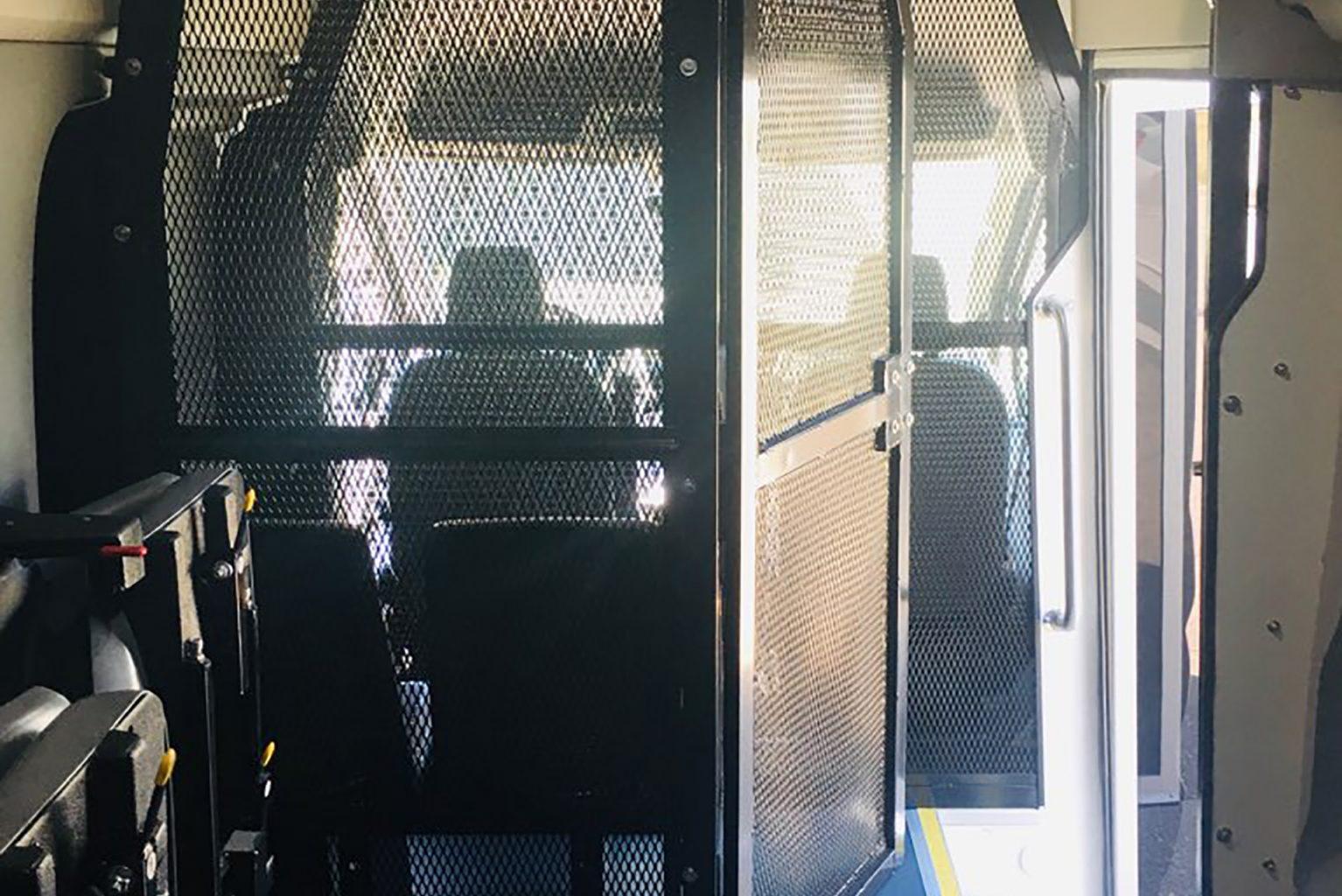 Prisoner Transport van interior caged door