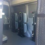Prisoner Transport van with interior seat folded