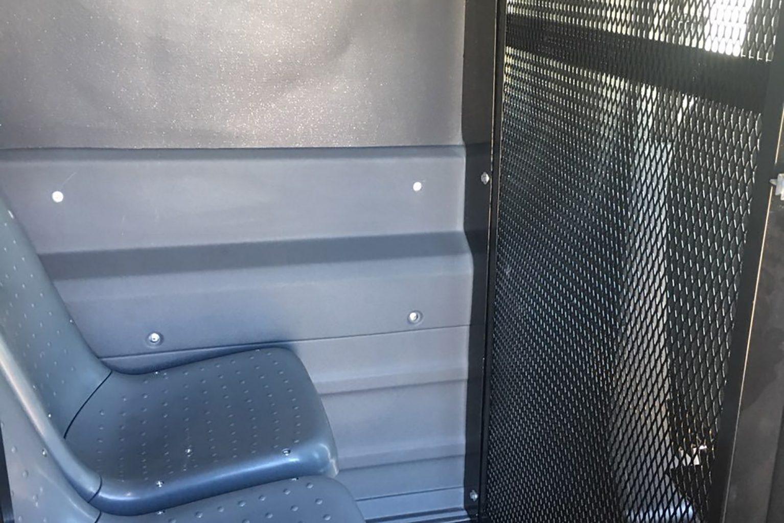Prisoner Transport van interior seat